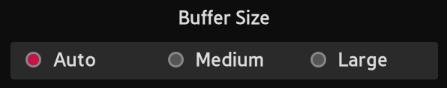 Buffer Size