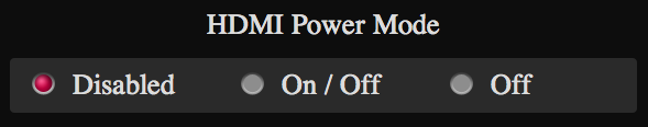 HDMI Power Mode